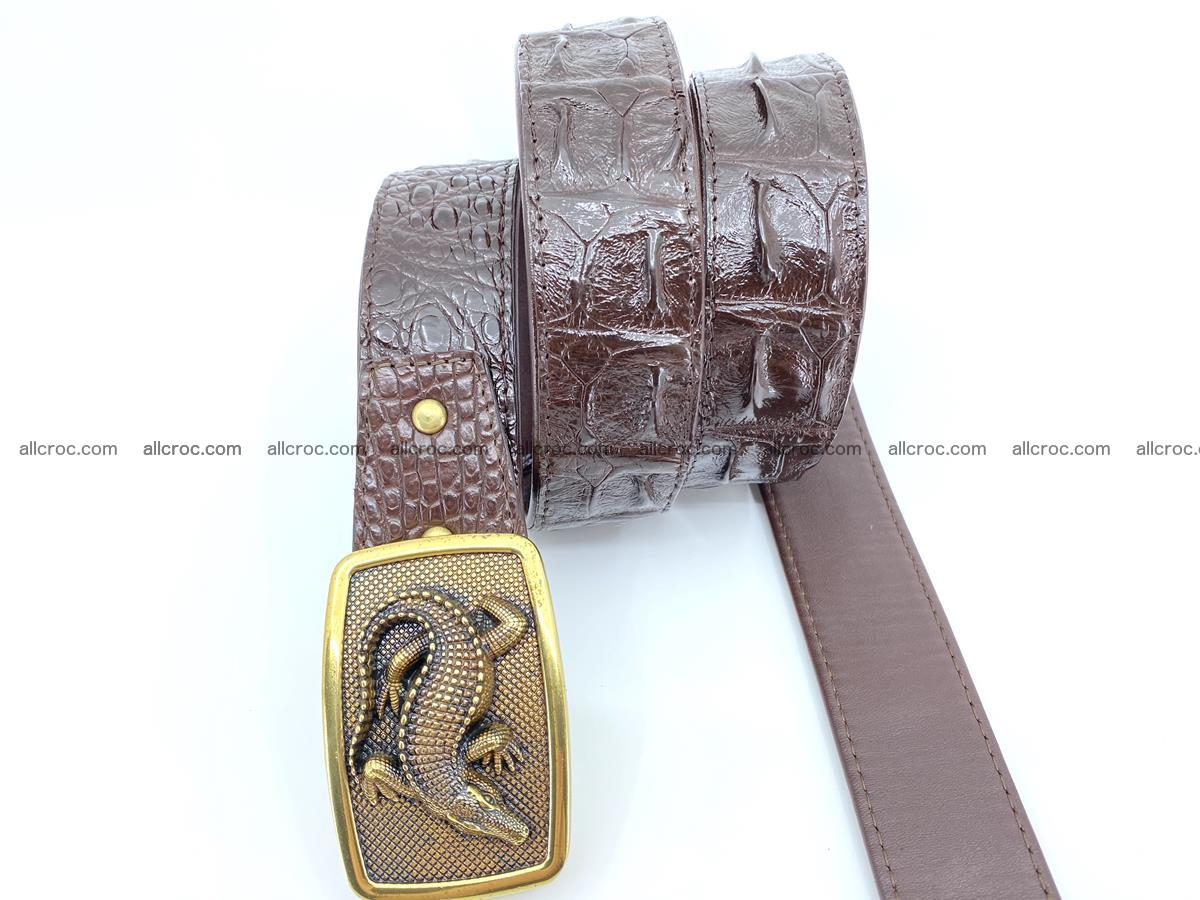 Handcrafted Crocodile leather hornback belt 810 Foto 2