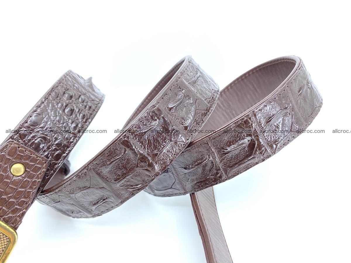 Handcrafted Crocodile leather hornback belt 810 Foto 4