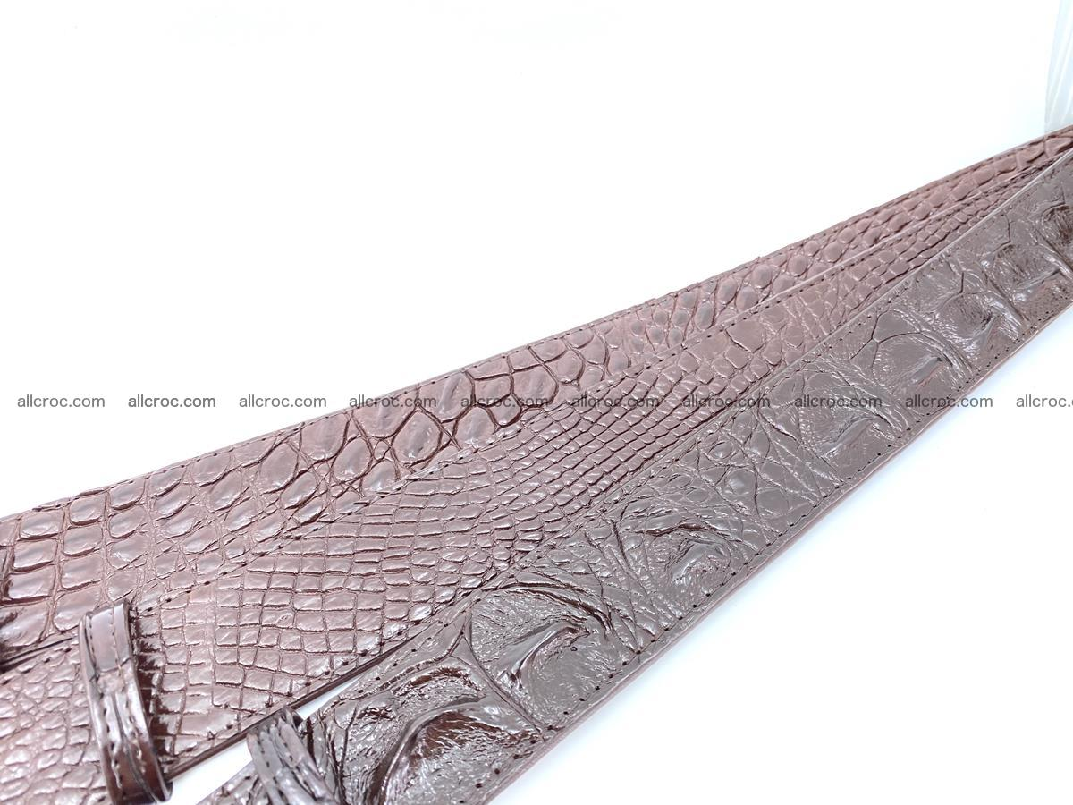Handcrafted Crocodile leather hornback belt 808 Foto 10