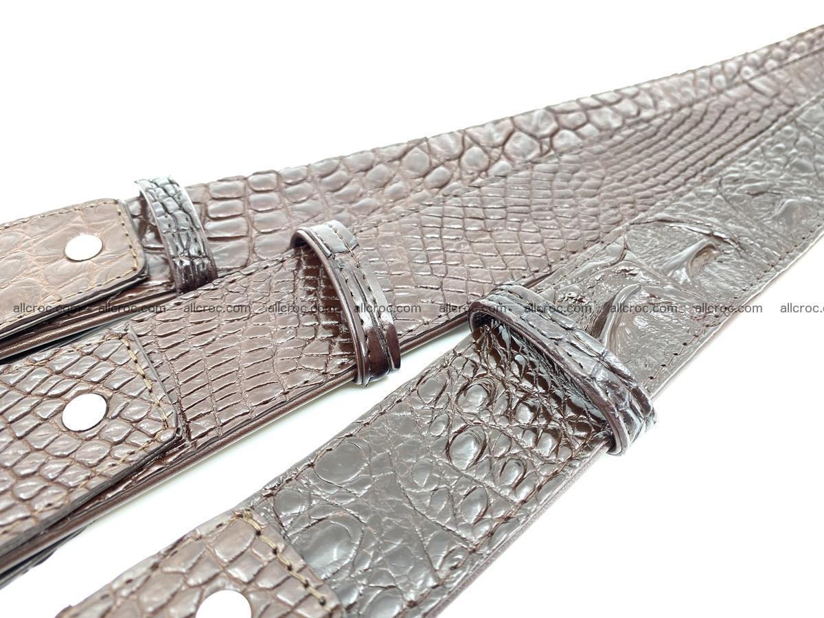 Handcrafted Crocodile leather hornback belt 808 Foto 8