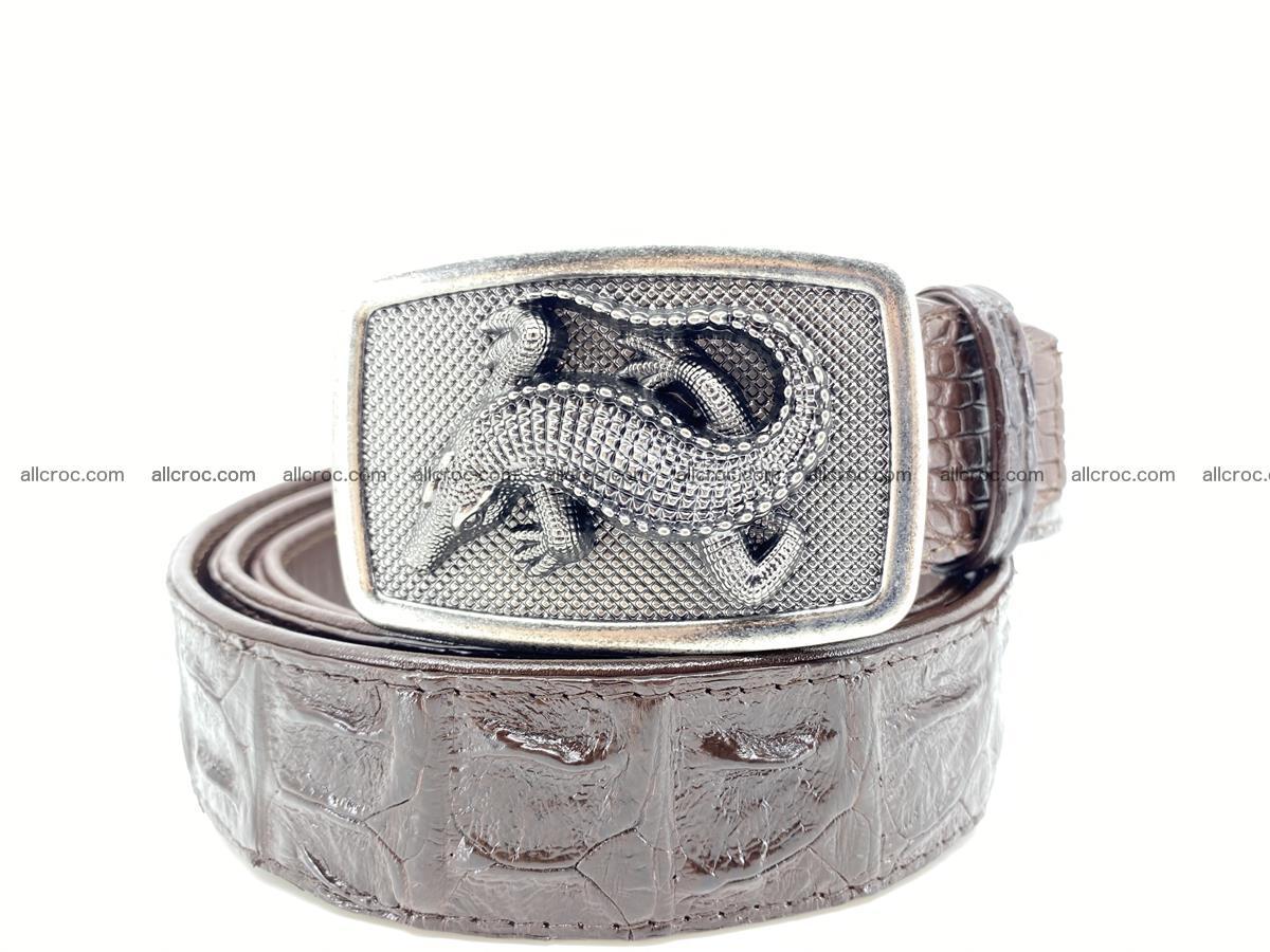Handcrafted Crocodile leather hornback belt 808 Foto 0