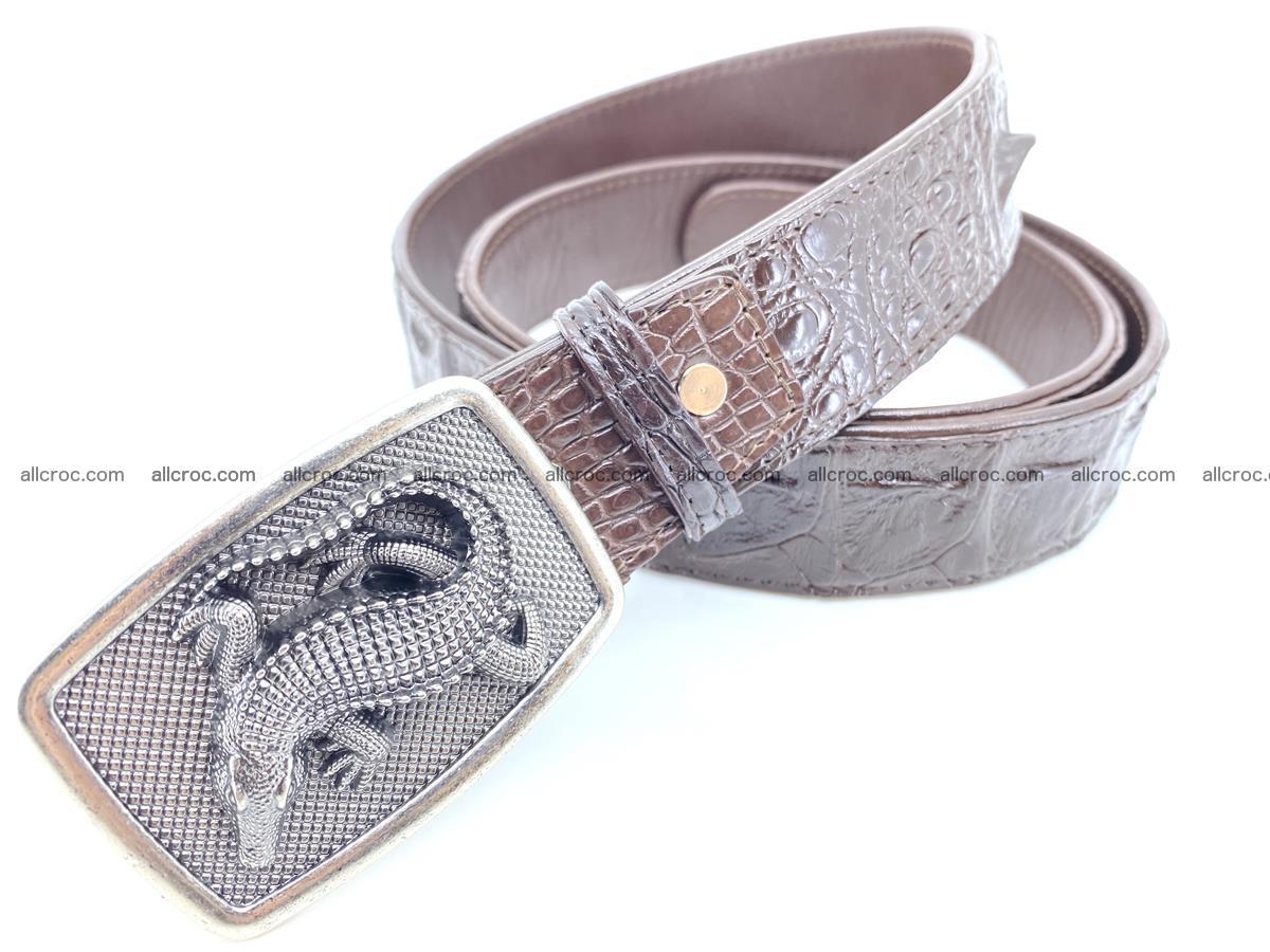 Handcrafted Crocodile leather hornback belt 808 Foto 1