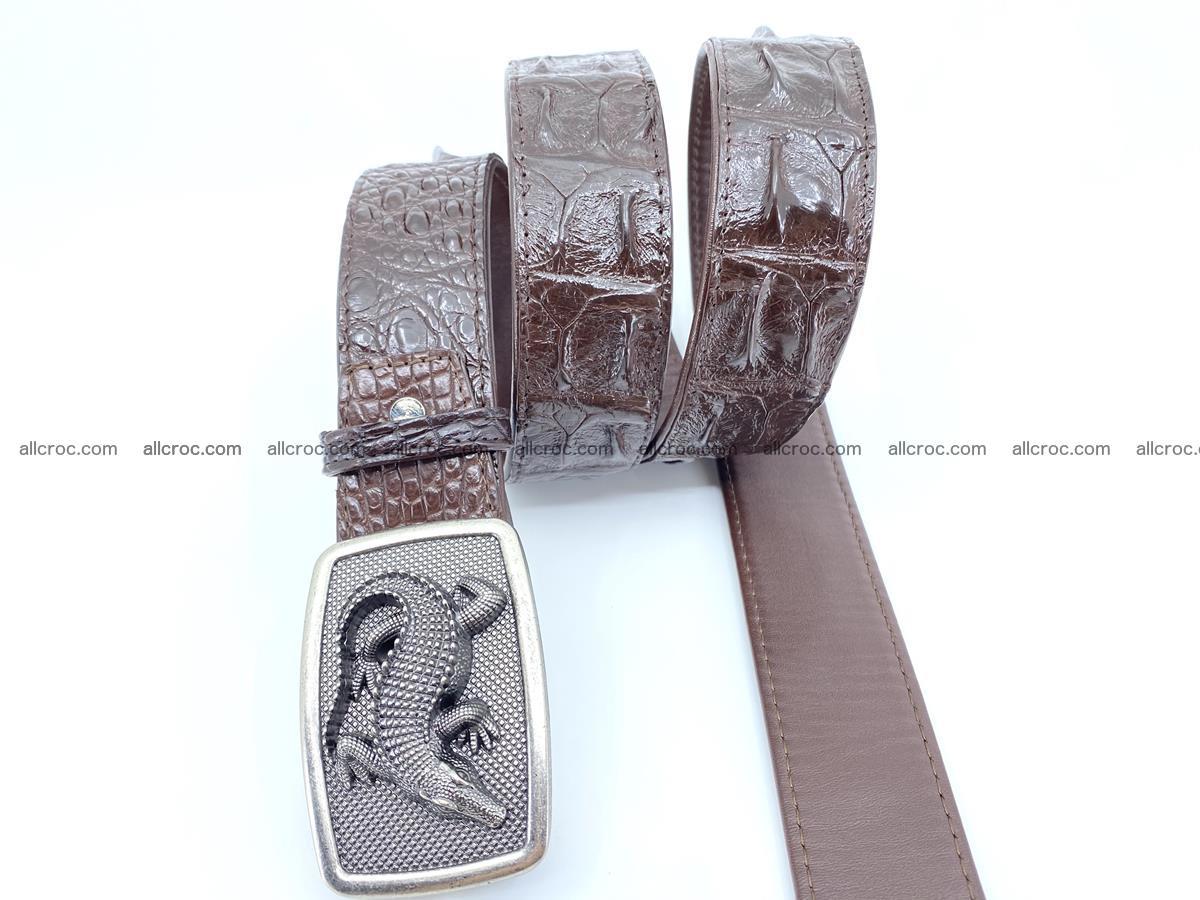 Handcrafted Crocodile leather hornback belt 808 Foto 2