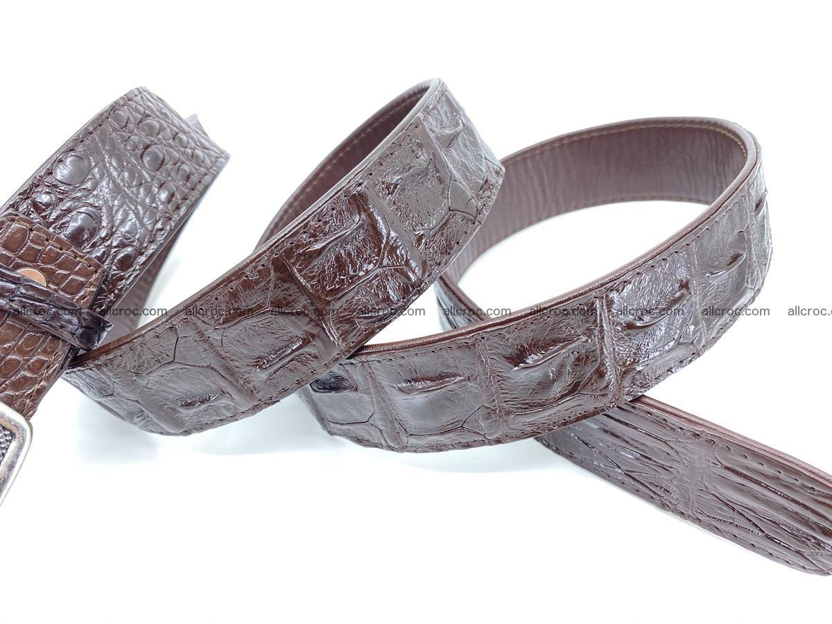 Handcrafted Crocodile leather hornback belt 808 Foto 4
