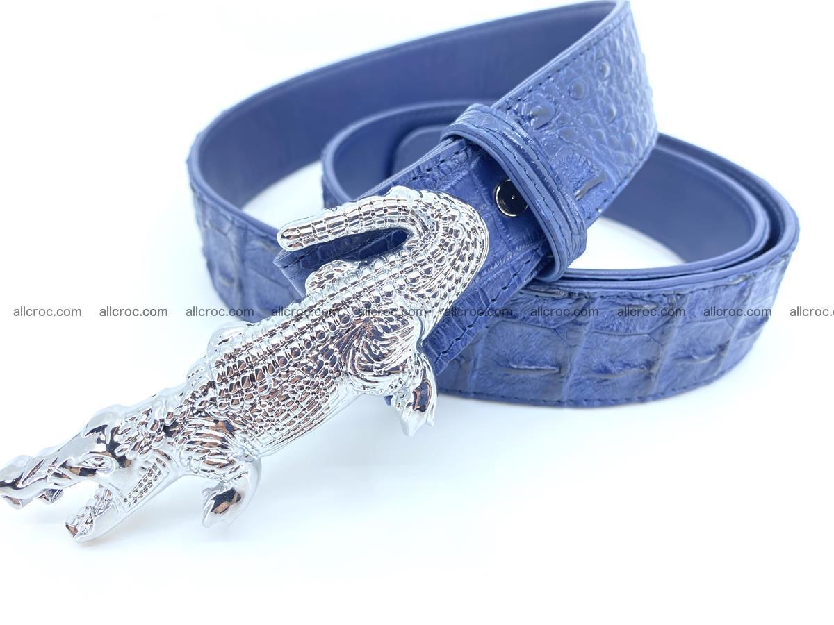 Handcrafted Crocodile leather hornback belt 764 Foto 2