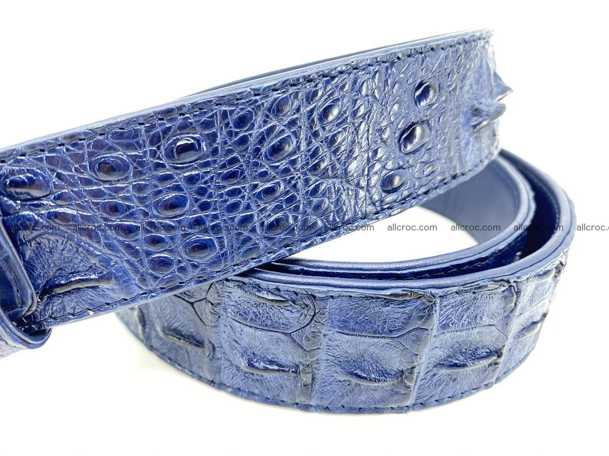 Handcrafted Crocodile leather hornback belt 764 Foto 3