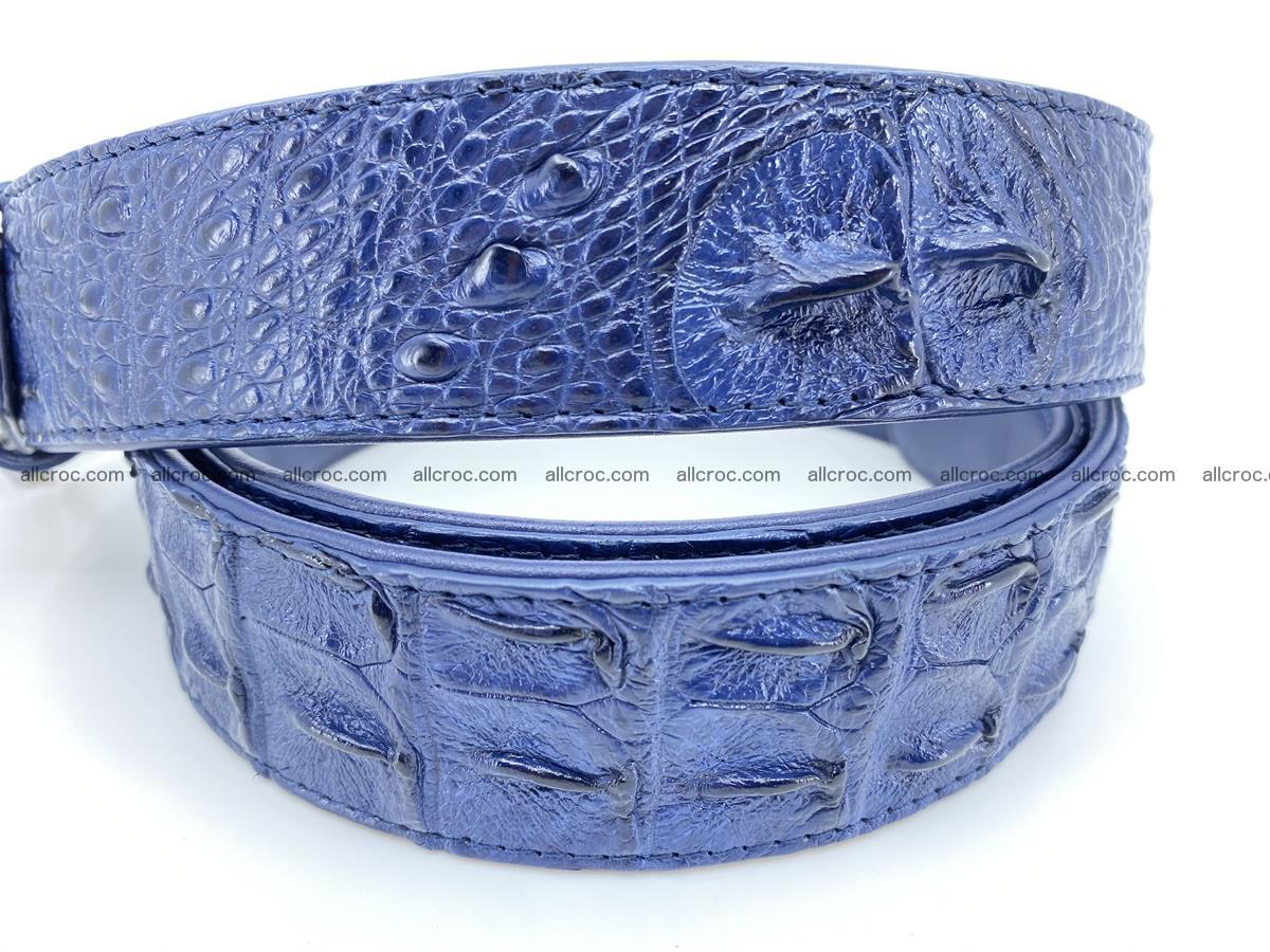 Handcrafted Crocodile leather hornback belt 764 Foto 4