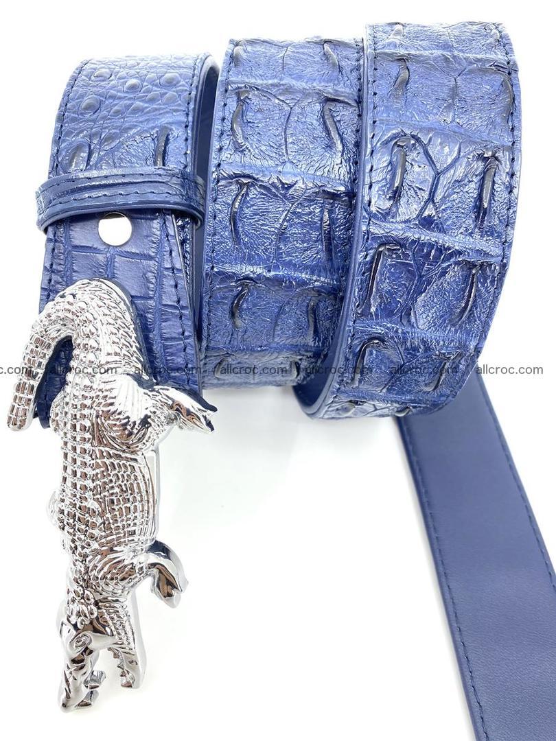 Handcrafted Crocodile leather hornback belt 764 Foto 5