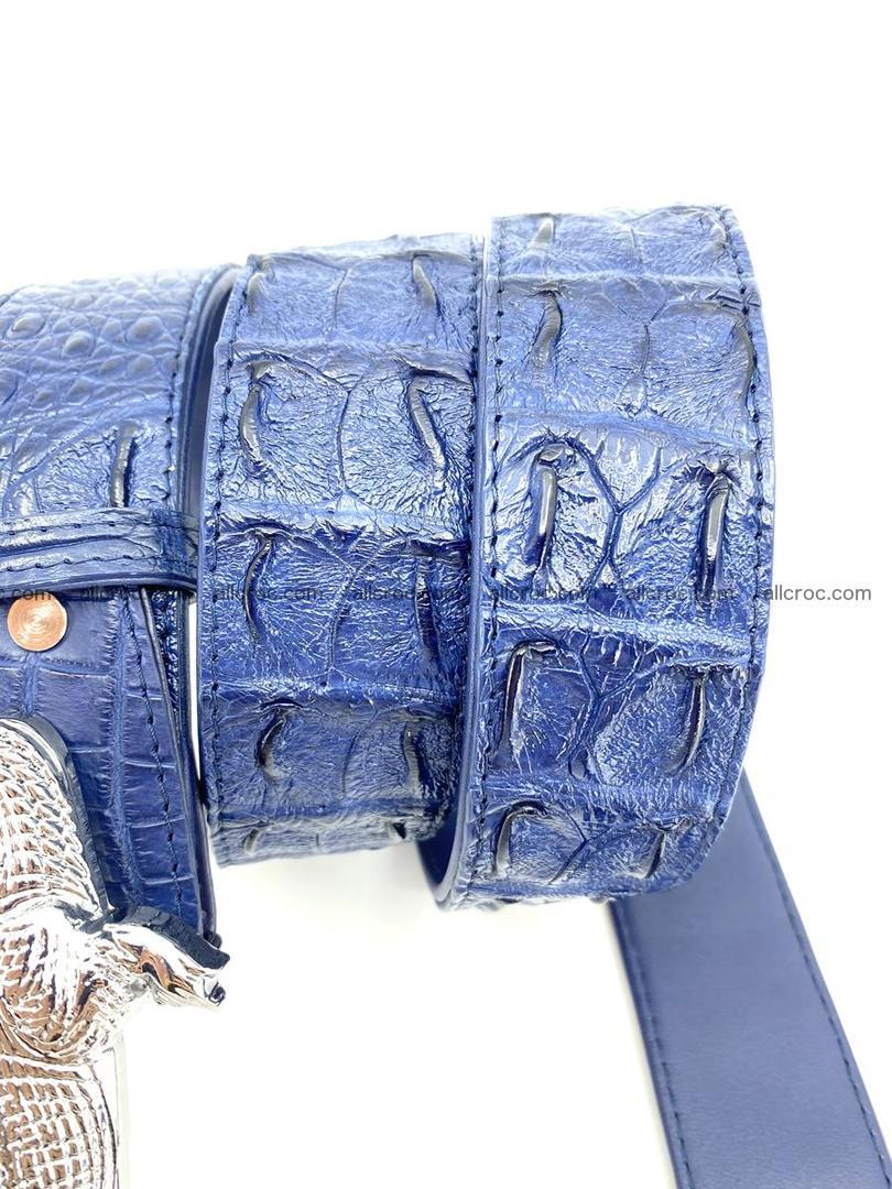 Handcrafted Crocodile leather hornback belt 764 Foto 6