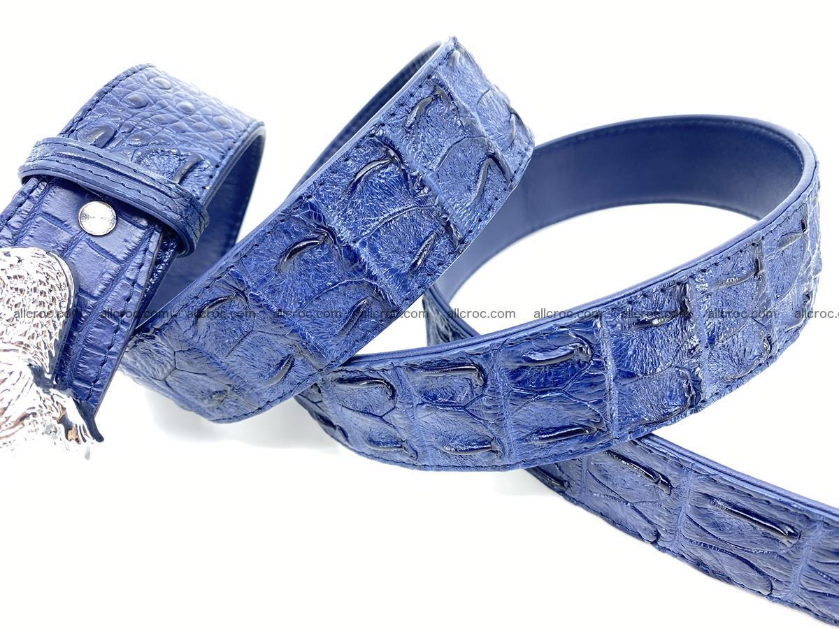 Handcrafted Crocodile leather hornback belt 764 Foto 8