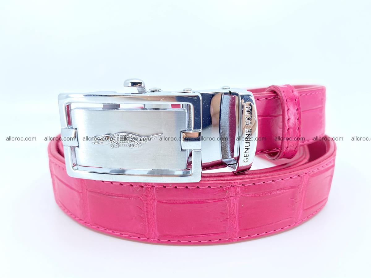 Handcrafted crocodile skin belt for women 851 Foto 0
