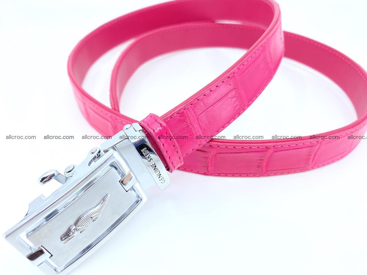Handcrafted crocodile skin belt for women 851 Foto 1