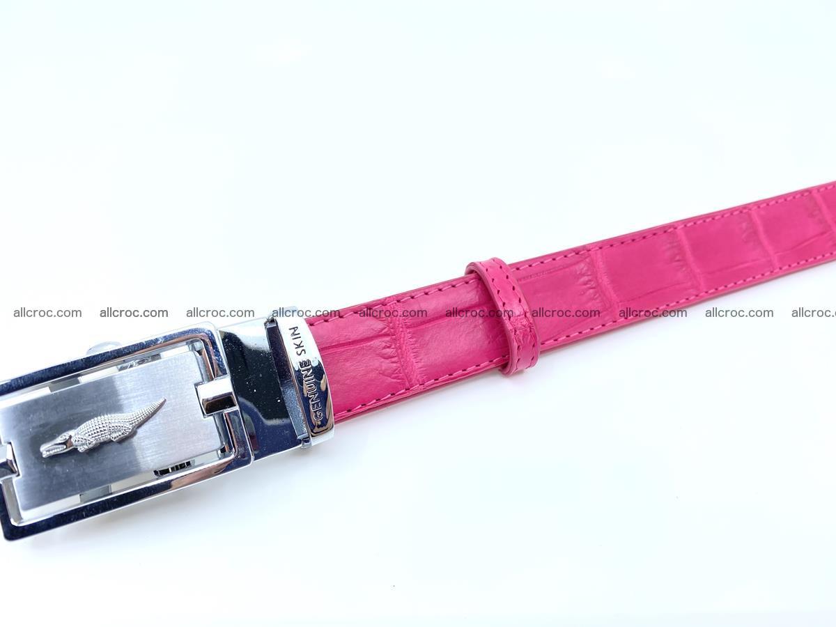 Handcrafted crocodile skin belt for women 851 Foto 3
