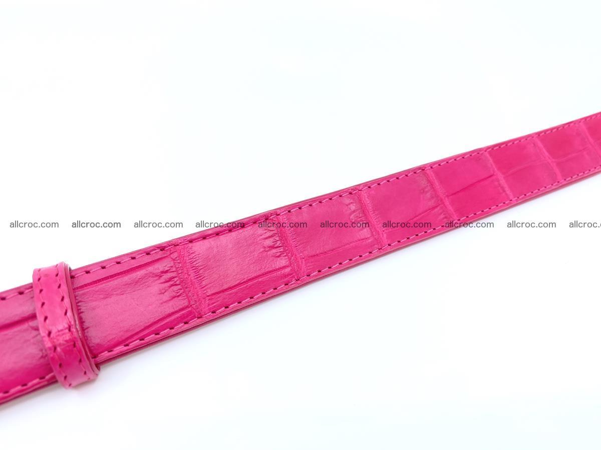 Handcrafted crocodile skin belt for women 851 Foto 4