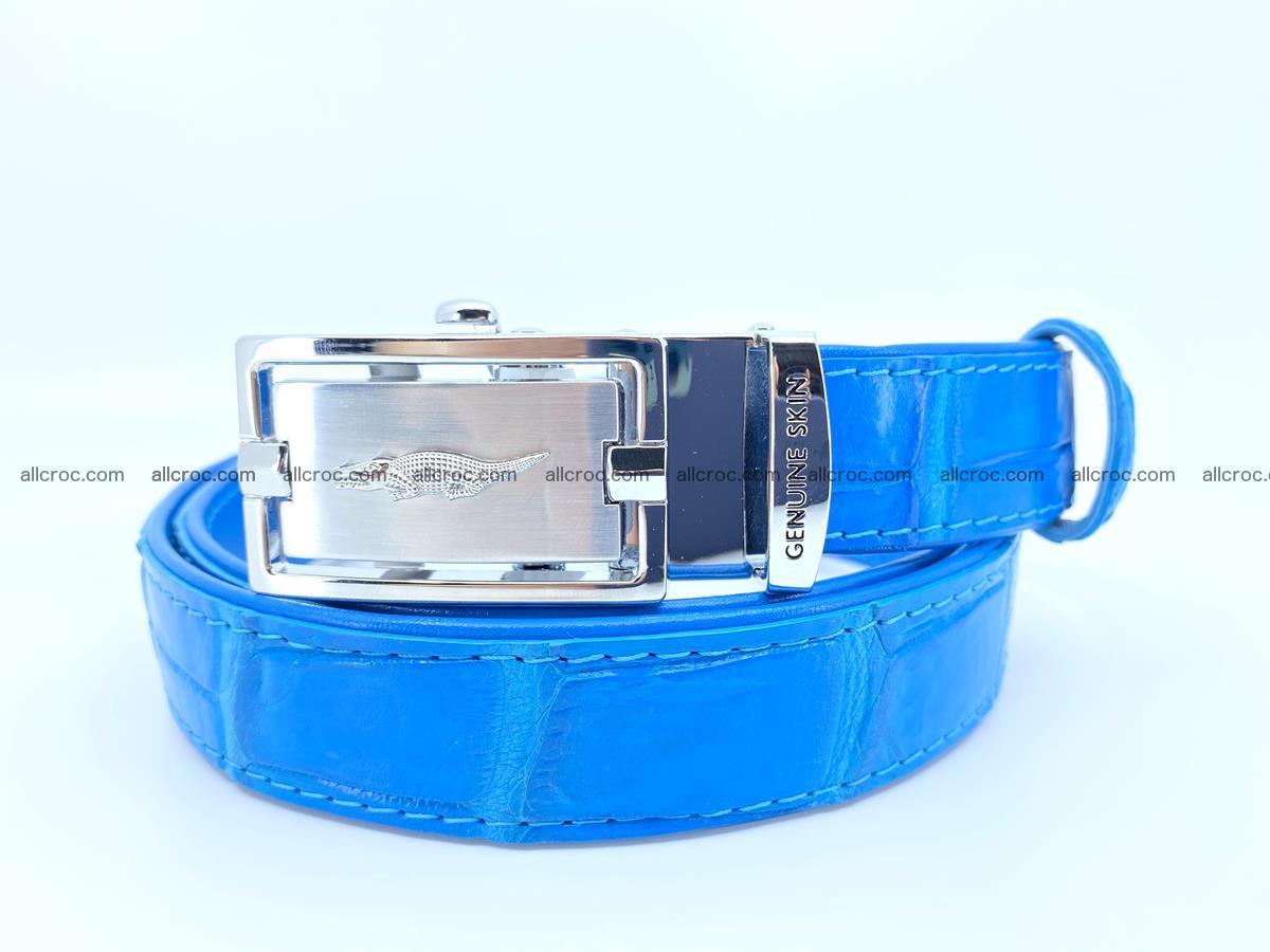Handcrafted crocodile skin belt for women 856 Foto 0