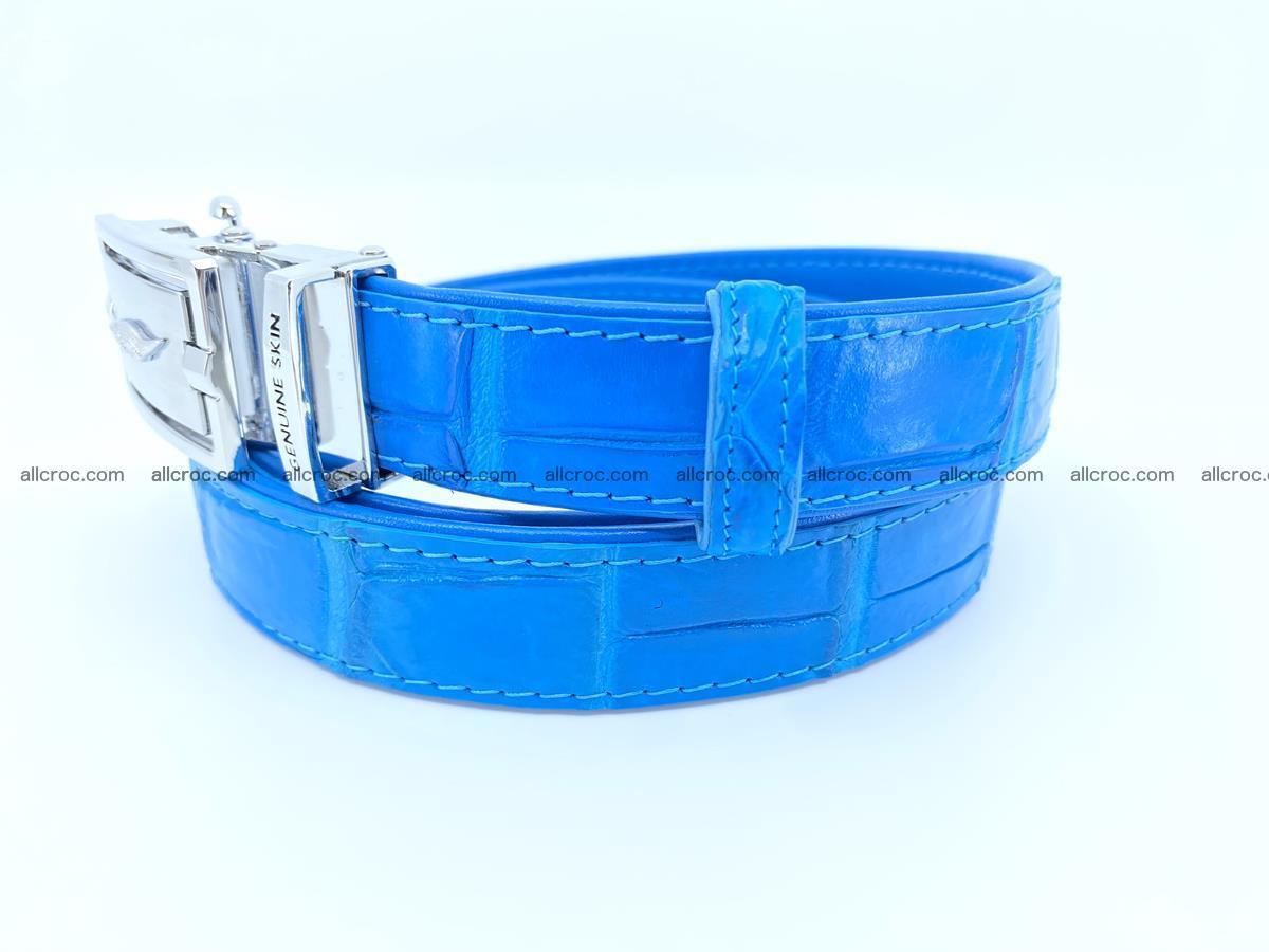Handcrafted crocodile skin belt for women 856 Foto 1