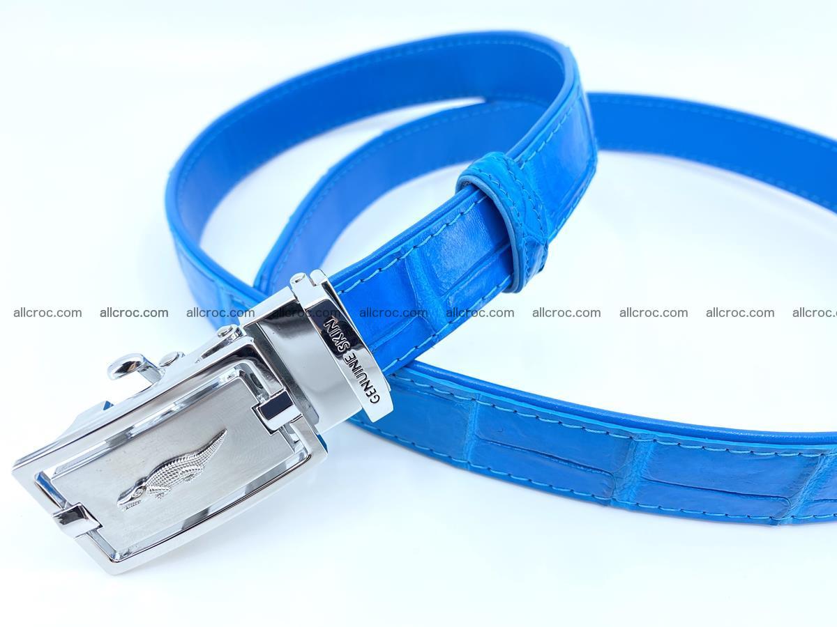 Handcrafted crocodile skin belt for women 856 Foto 3