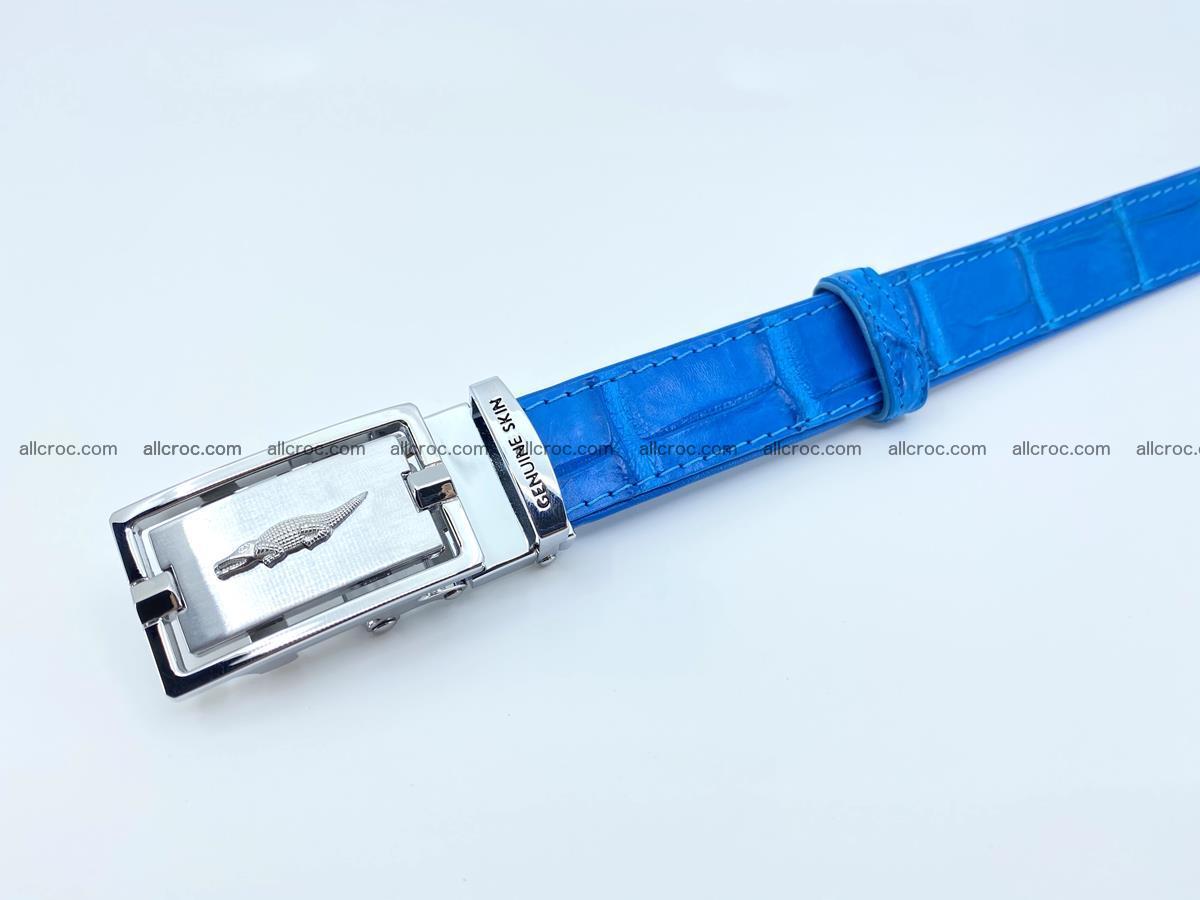 Handcrafted crocodile skin belt for women 856 Foto 4