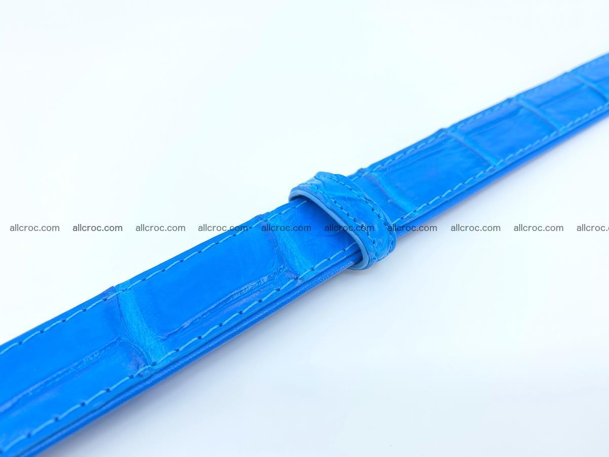 Handcrafted crocodile skin belt for women 856 Foto 5