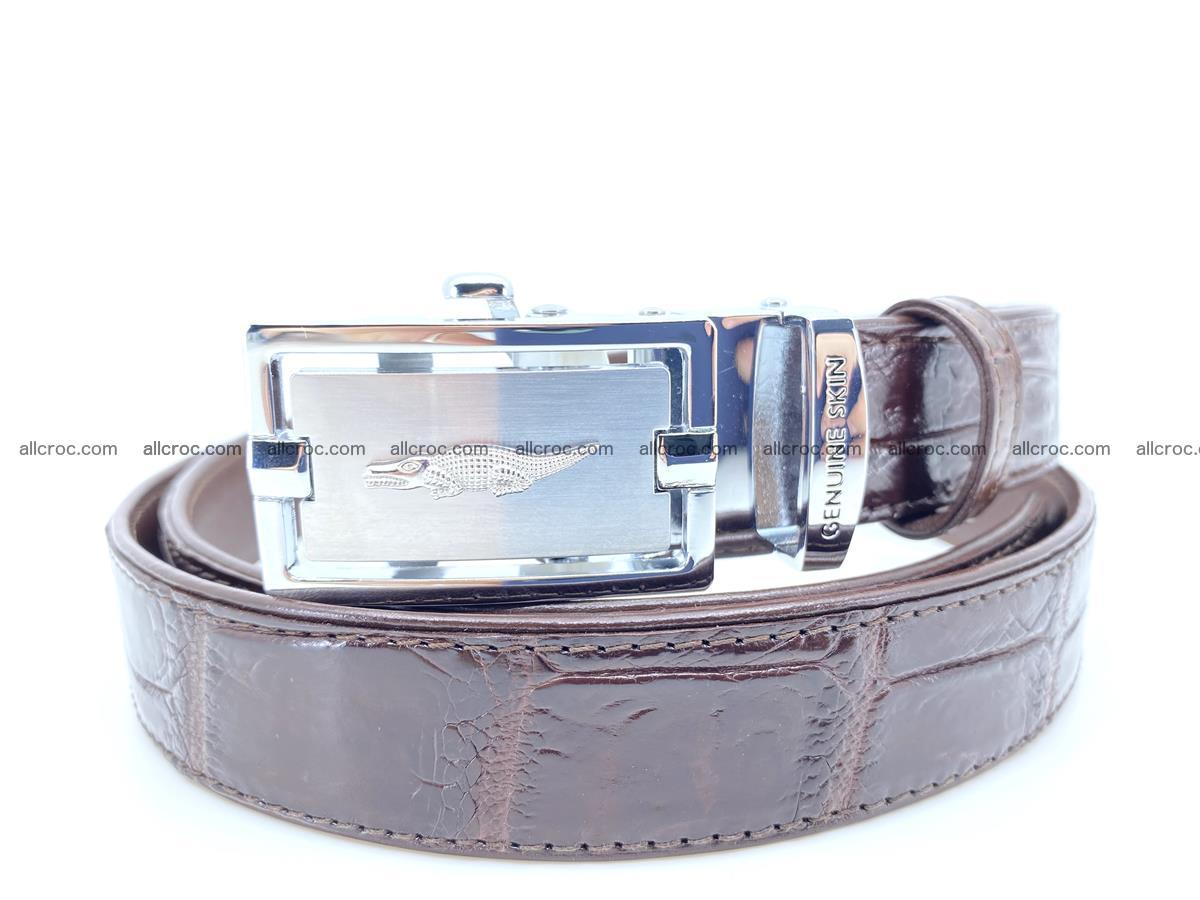 Handcrafted crocodile skin belt for women 860 Foto 0