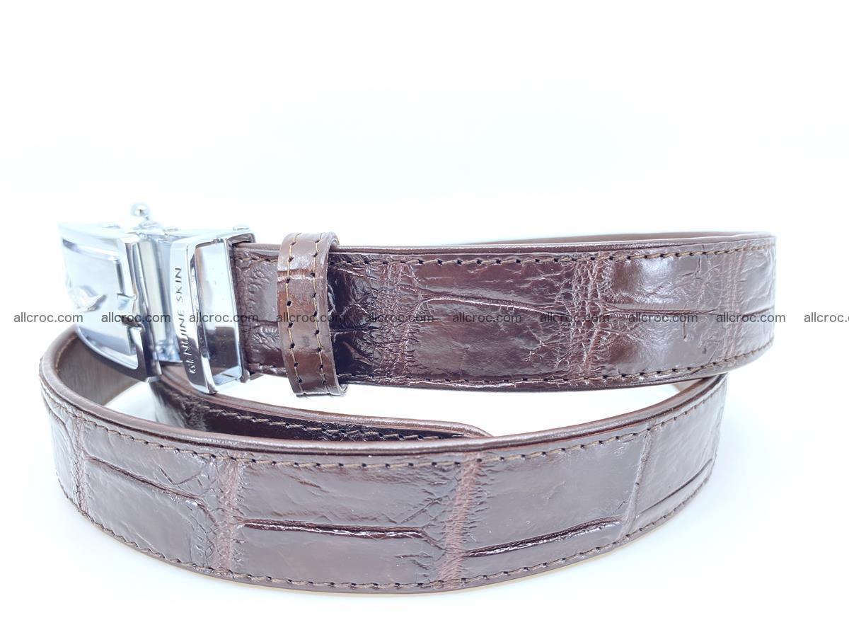 Handcrafted crocodile skin belt for women 860 Foto 1