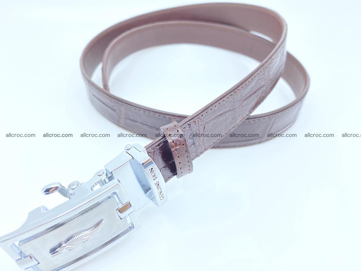 Handcrafted crocodile skin belt for women 860 Foto 2