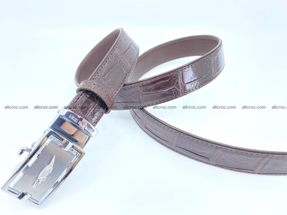 Handcrafted crocodile skin belt for women 860 Foto 3
