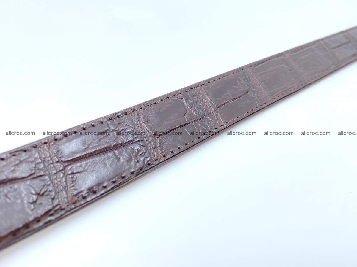 Handcrafted crocodile skin belt for women 860 Foto 5