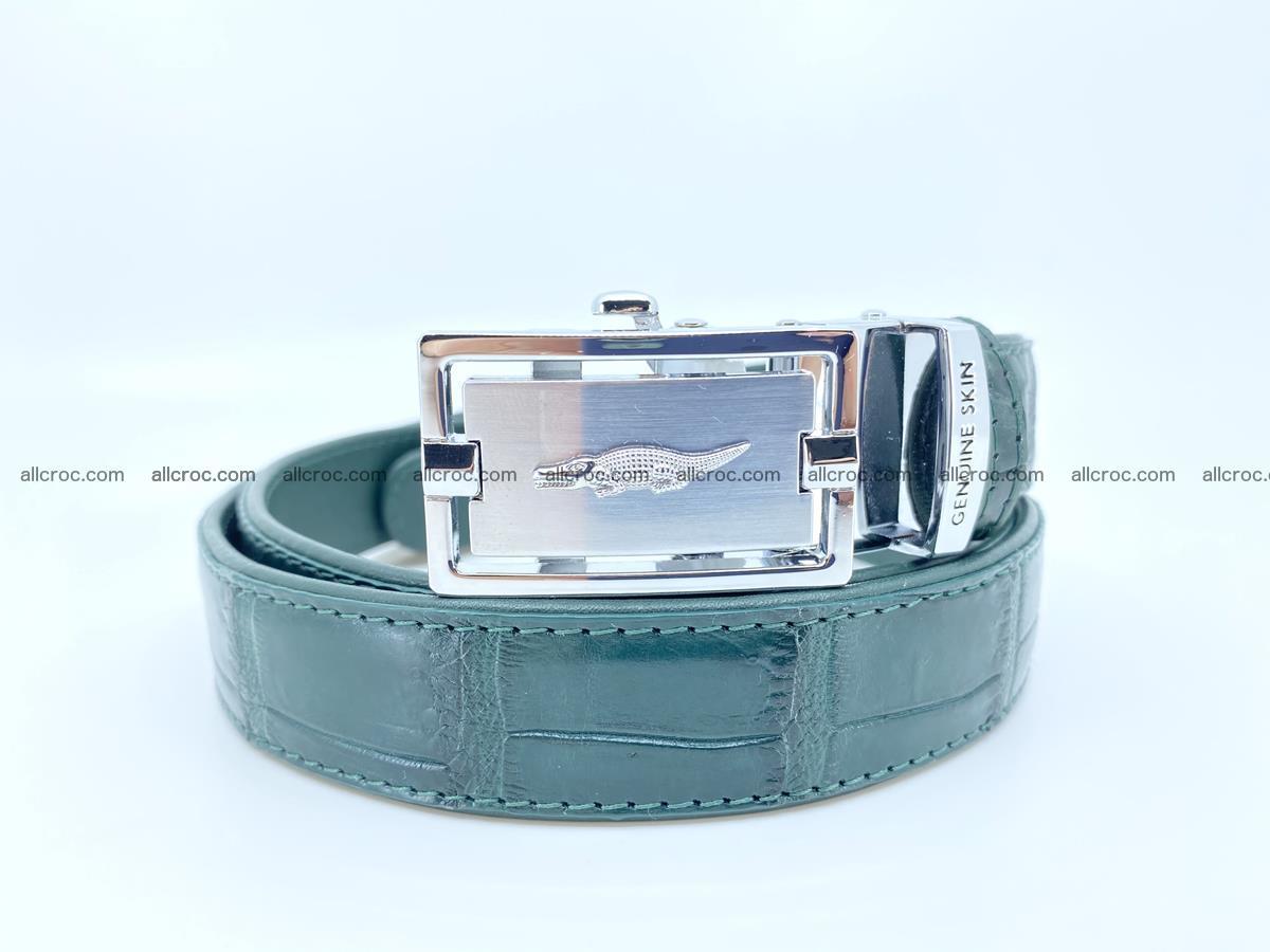 Handcrafted crocodile skin belt for women 845 Foto 0