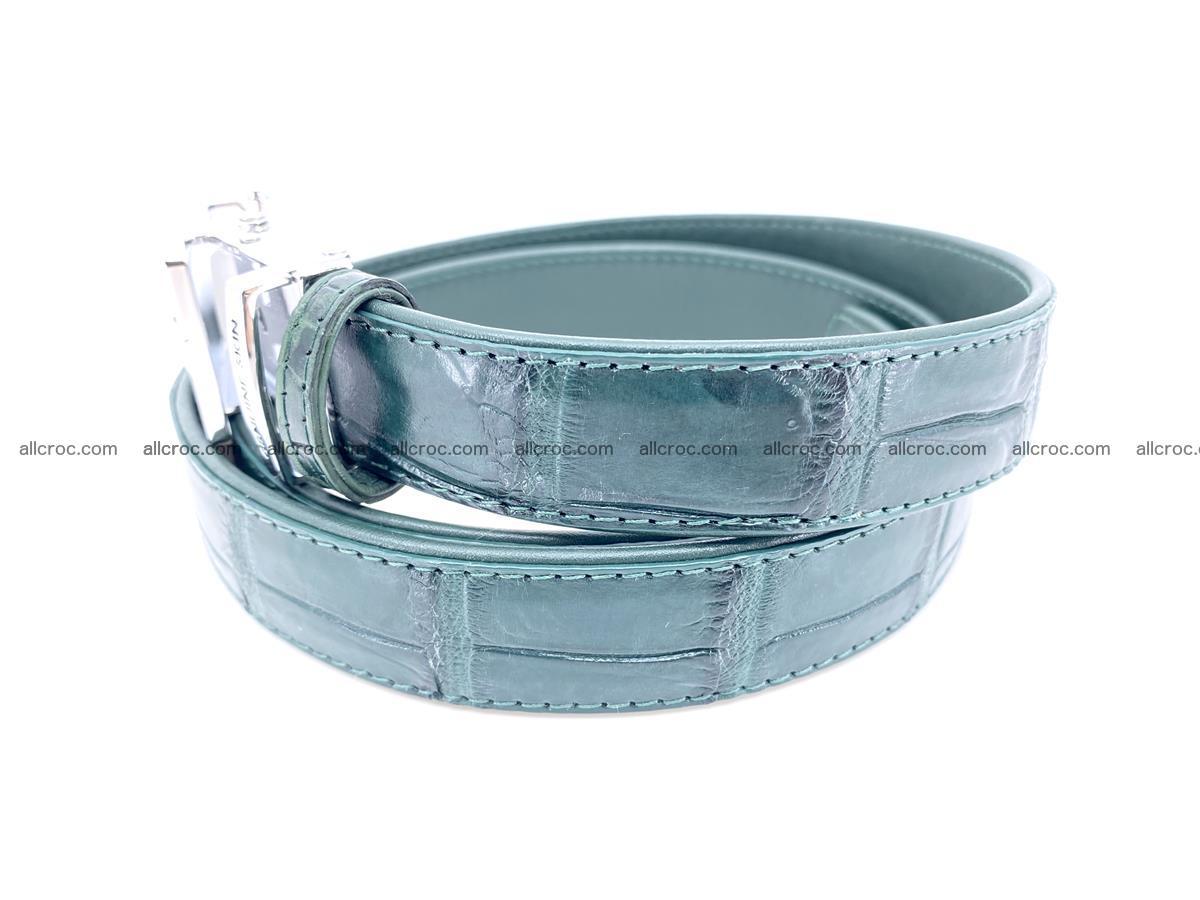 Handcrafted crocodile skin belt for women 845 Foto 1
