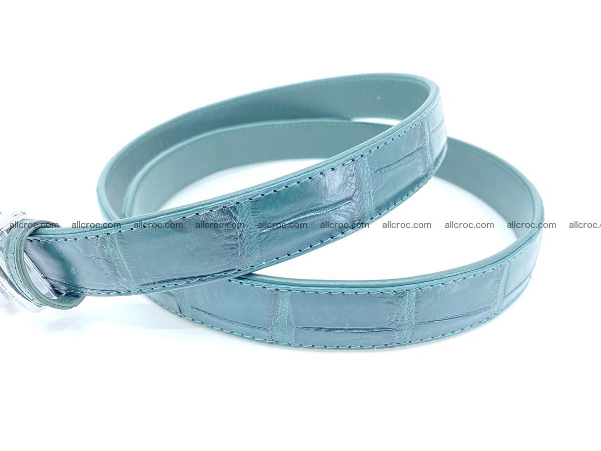 Handcrafted crocodile skin belt for women 845 Foto 3