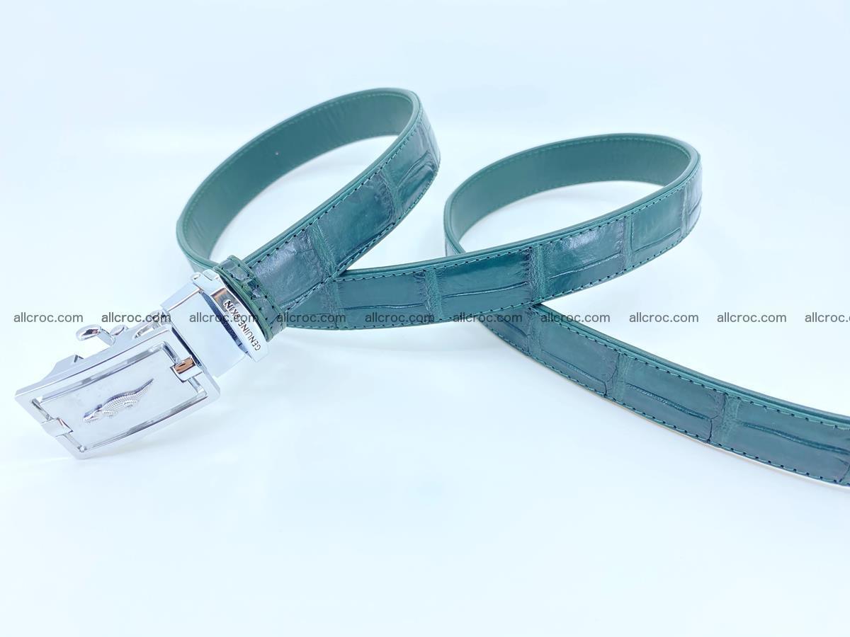 Handcrafted crocodile skin belt for women 845 Foto 2