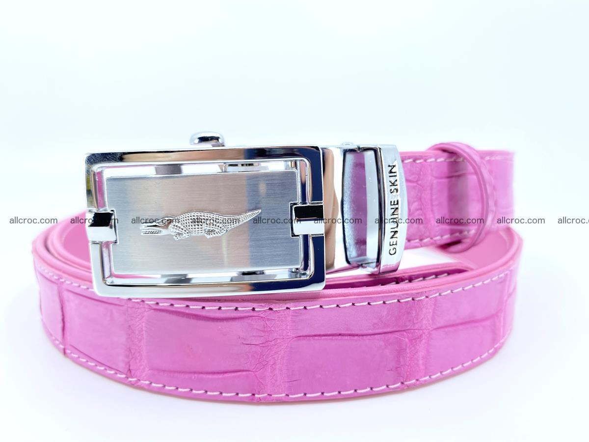 Handcrafted crocodile skin belt for women 846 Foto 0