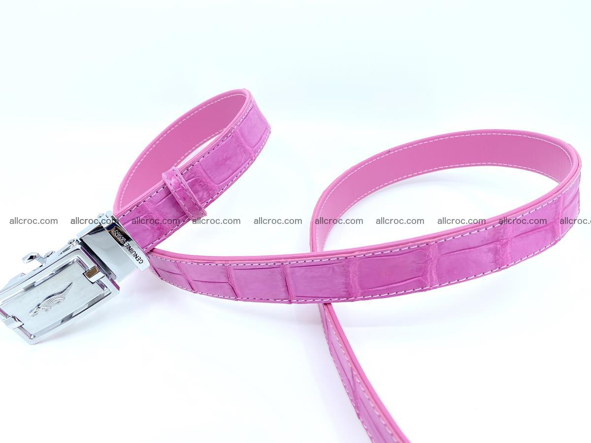 Handcrafted crocodile skin belt for women 846 Foto 1