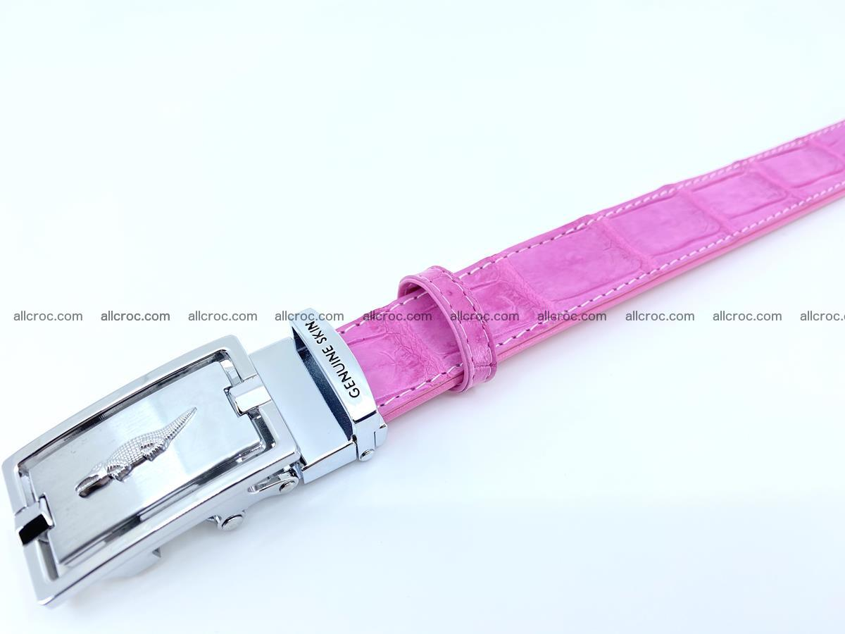 Handcrafted crocodile skin belt for women 846 Foto 2