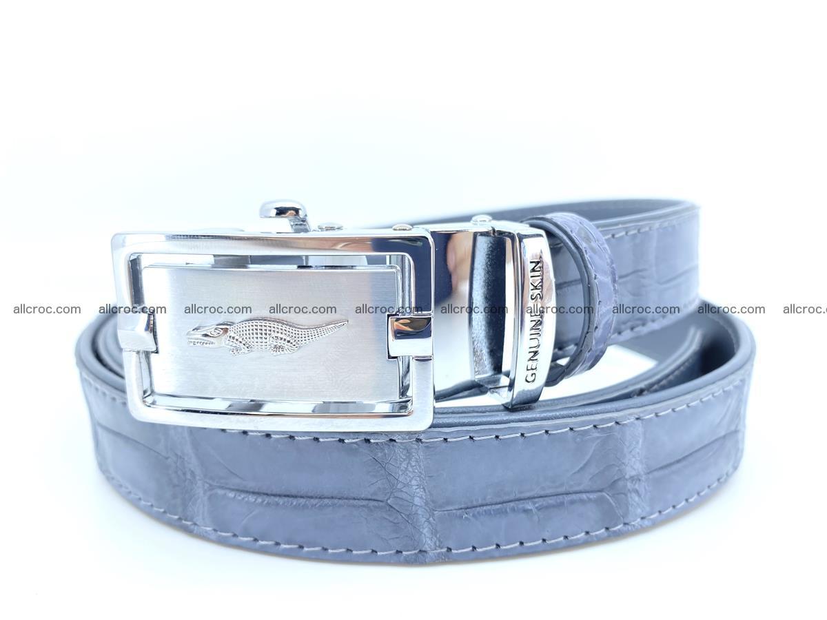 Handcrafted crocodile skin belt for women 849 Foto 0