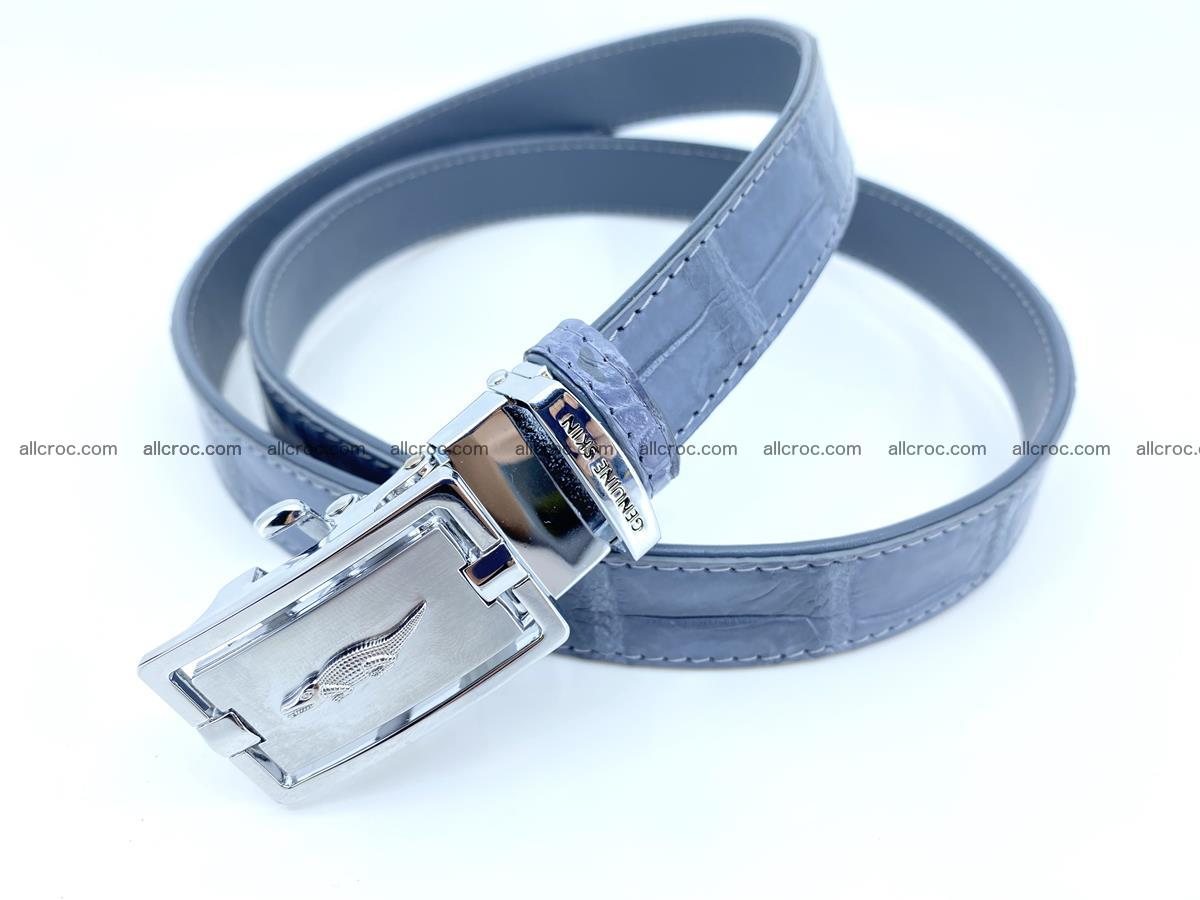 Handcrafted crocodile skin belt for women 849 Foto 1