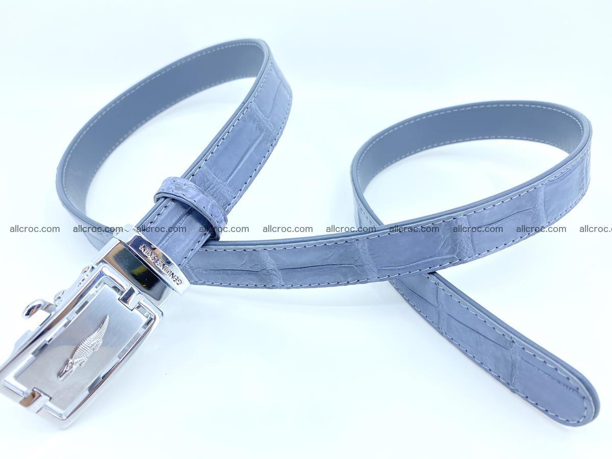 Handcrafted crocodile skin belt for women 849 Foto 2