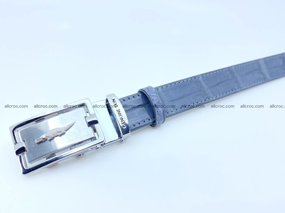 Handcrafted crocodile skin belt for women 849 Foto 3