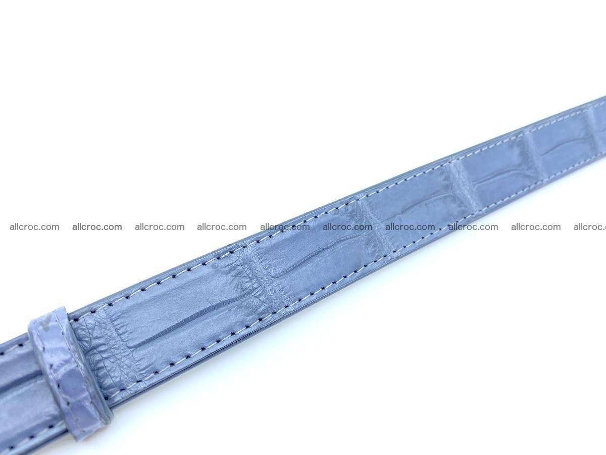 Handcrafted crocodile skin belt for women 849 Foto 4