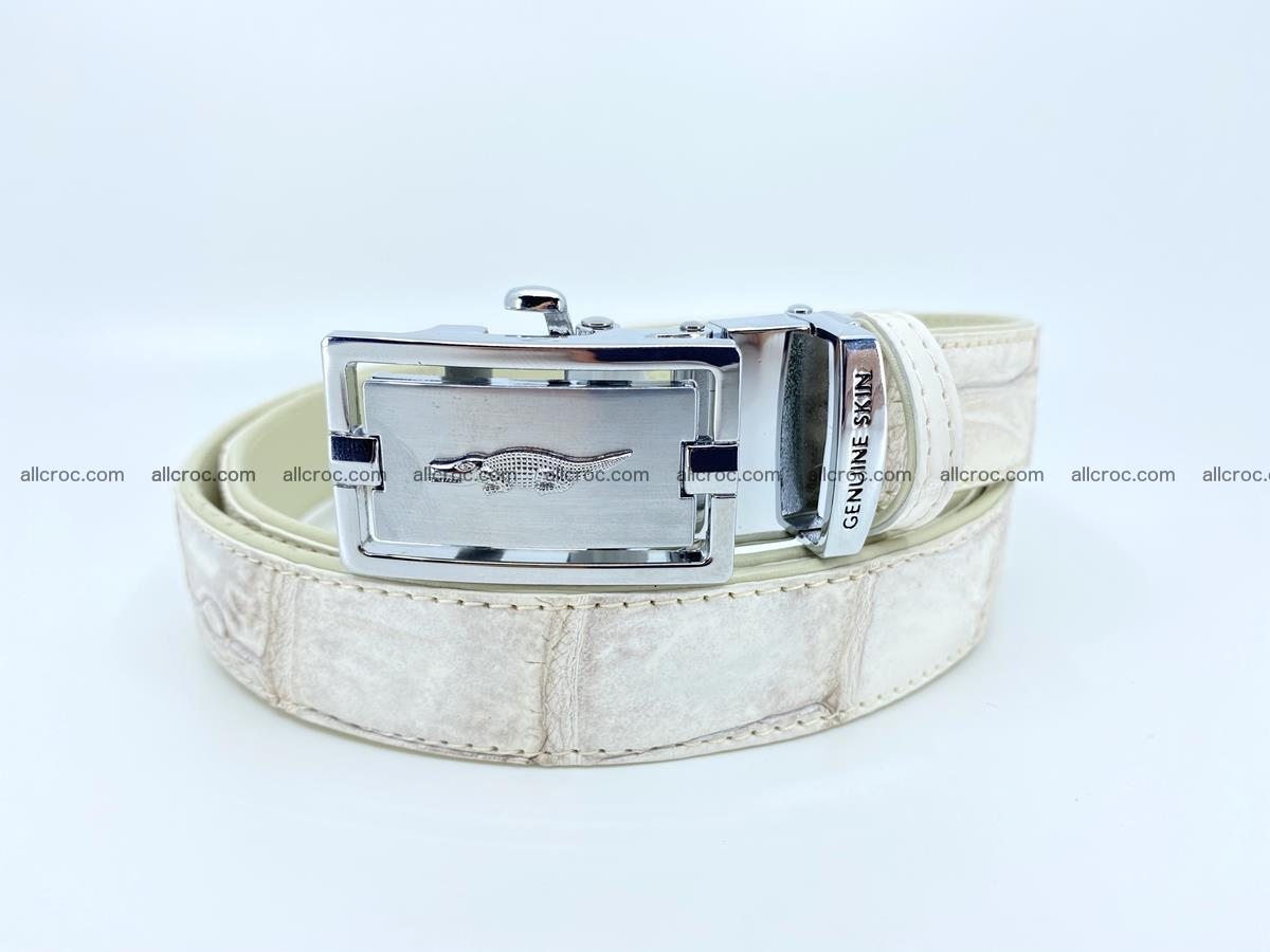 Handcrafted crocodile skin belt for women 850 Foto 0