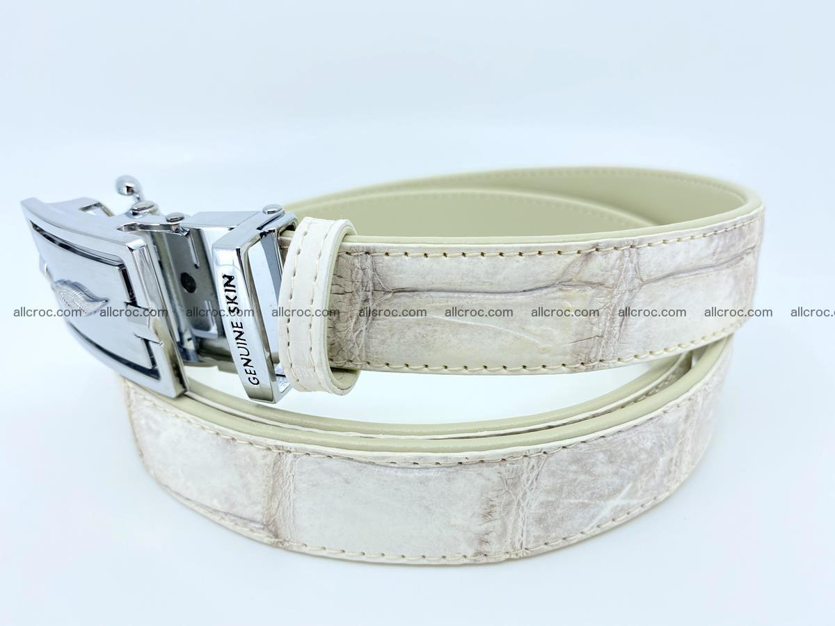 Handcrafted crocodile skin belt for women 850 Foto 1