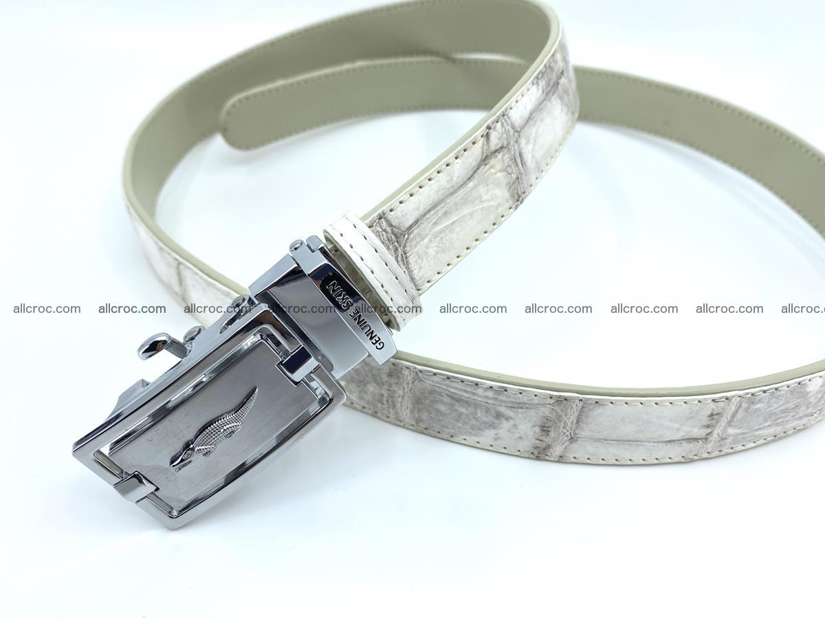 Handcrafted crocodile skin belt for women 850 Foto 3