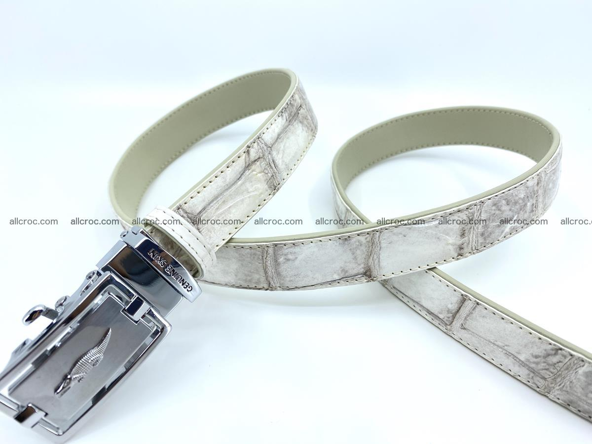 Handcrafted crocodile skin belt for women 850 Foto 2