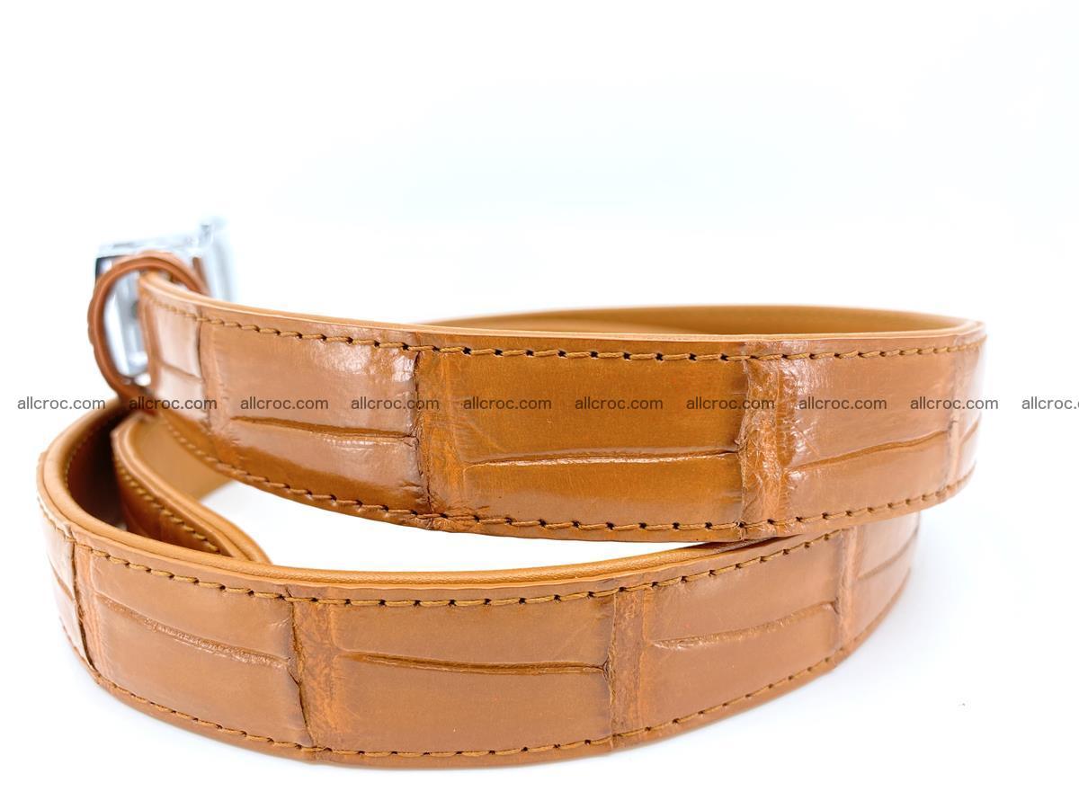 Handcrafted crocodile skin belt for women 844 Foto 2