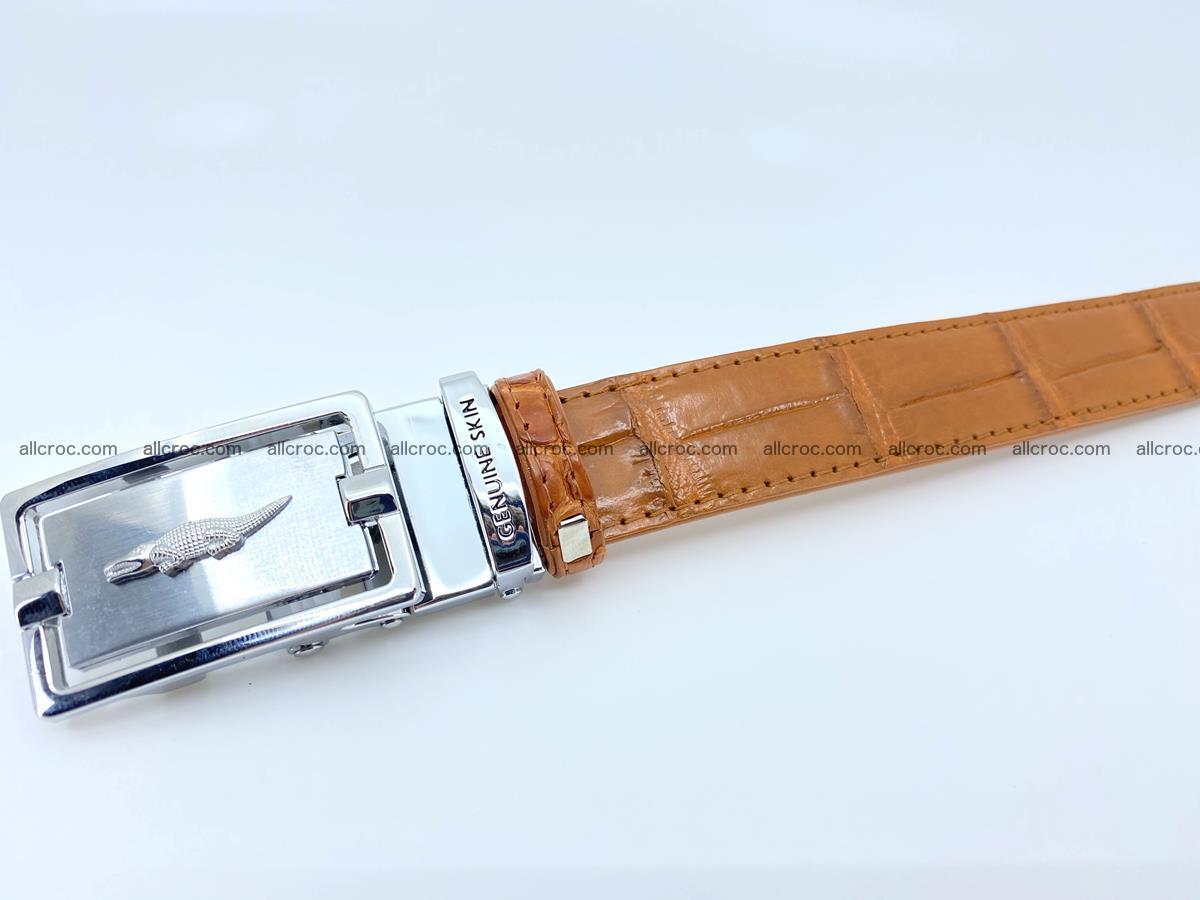 Handcrafted crocodile skin belt for women 844 Foto 3