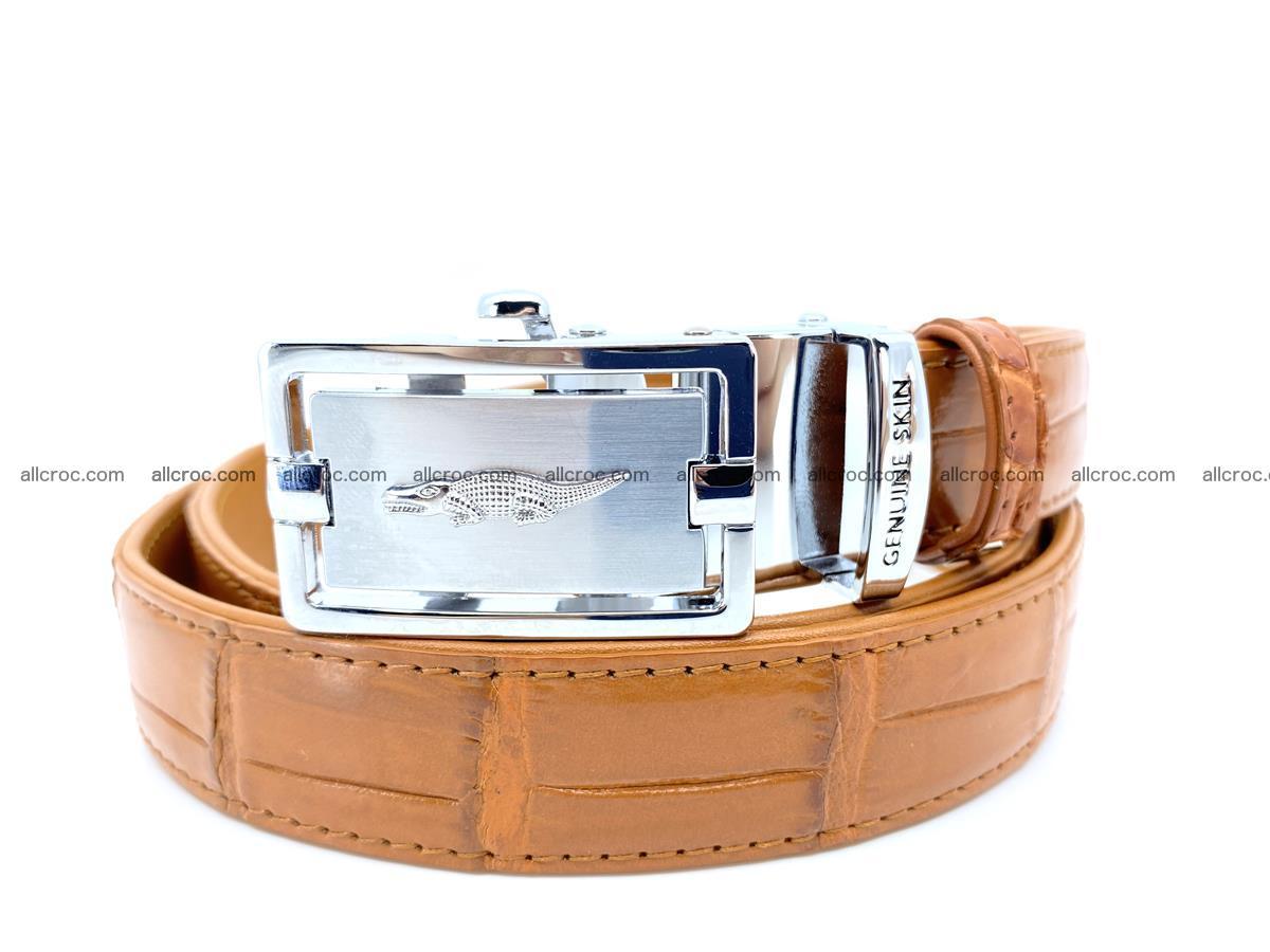 Handcrafted crocodile skin belt for women 844 Foto 0