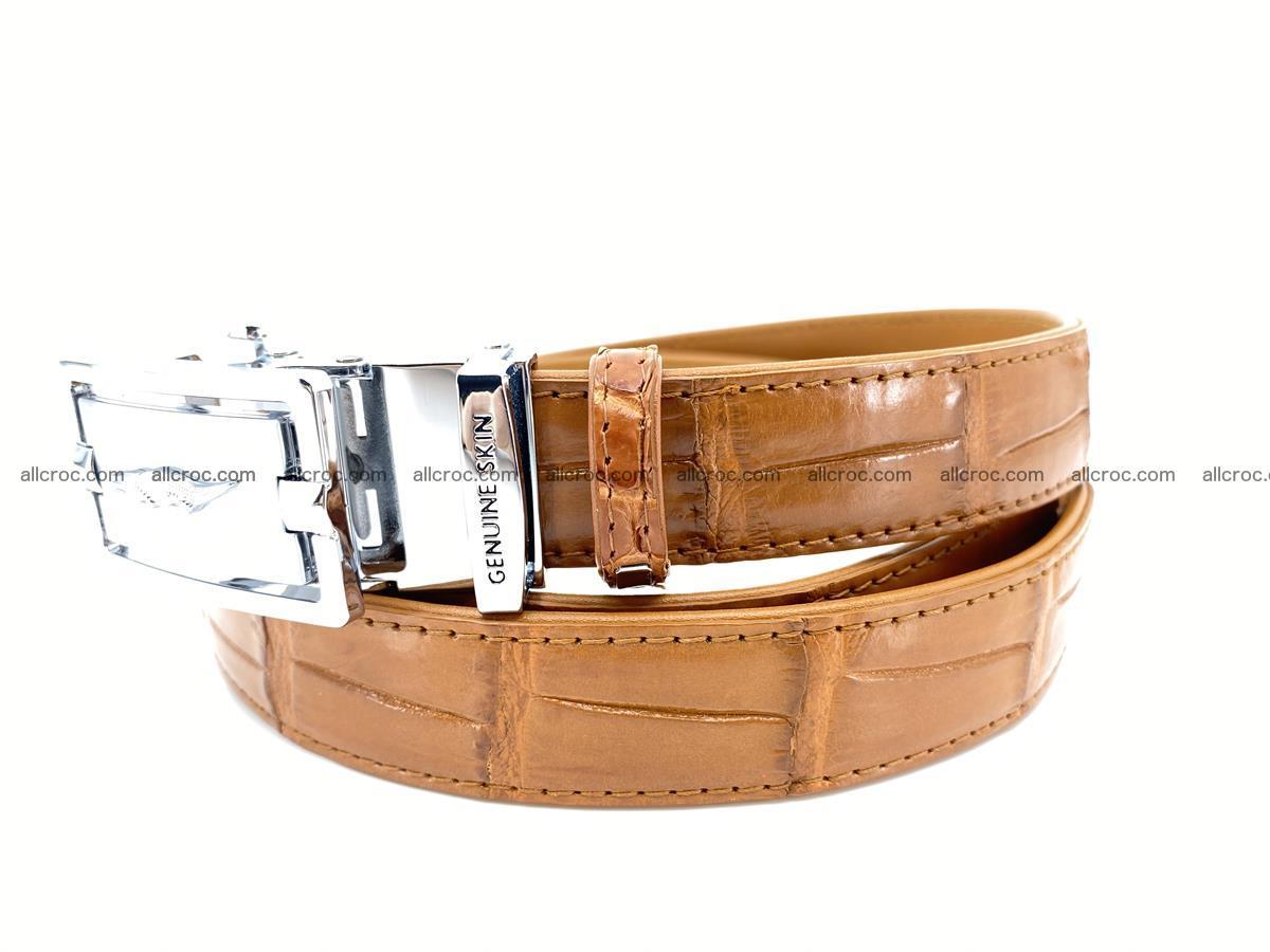 Handcrafted crocodile skin belt for women 844 Foto 1