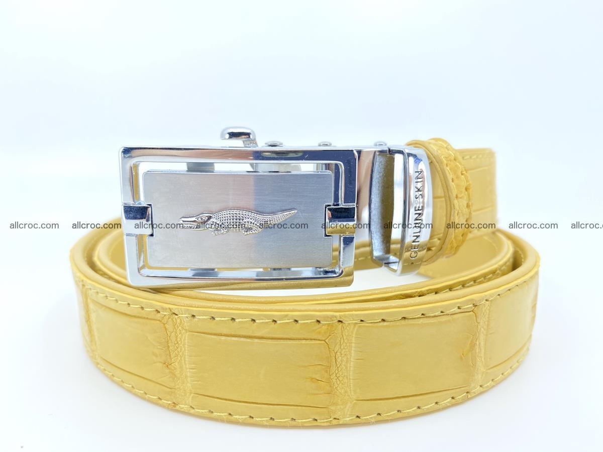 Handcrafted crocodile skin belt for women 857 Foto 12