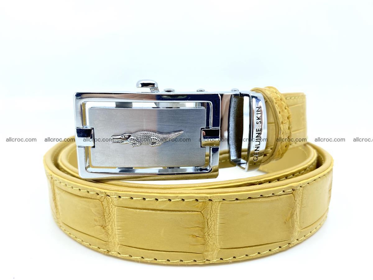 Handcrafted crocodile skin belt for women 857 Foto 0